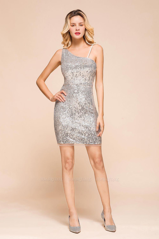 Gorgeous One Shoulder Sequins Short Prom Dress Online
