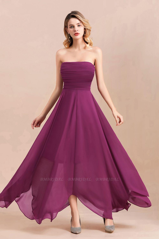 Gorgeous Strapless Ruffle Bridesmaid Dress with Petal Hemline