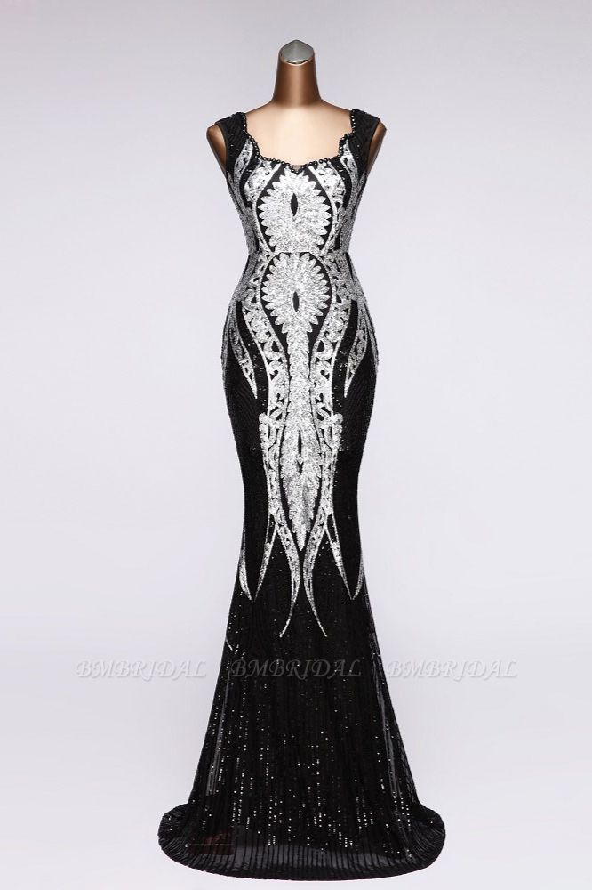 Gorgeous Sequined Square-Neck Mermaid Prom Dresses Sleeveless Online