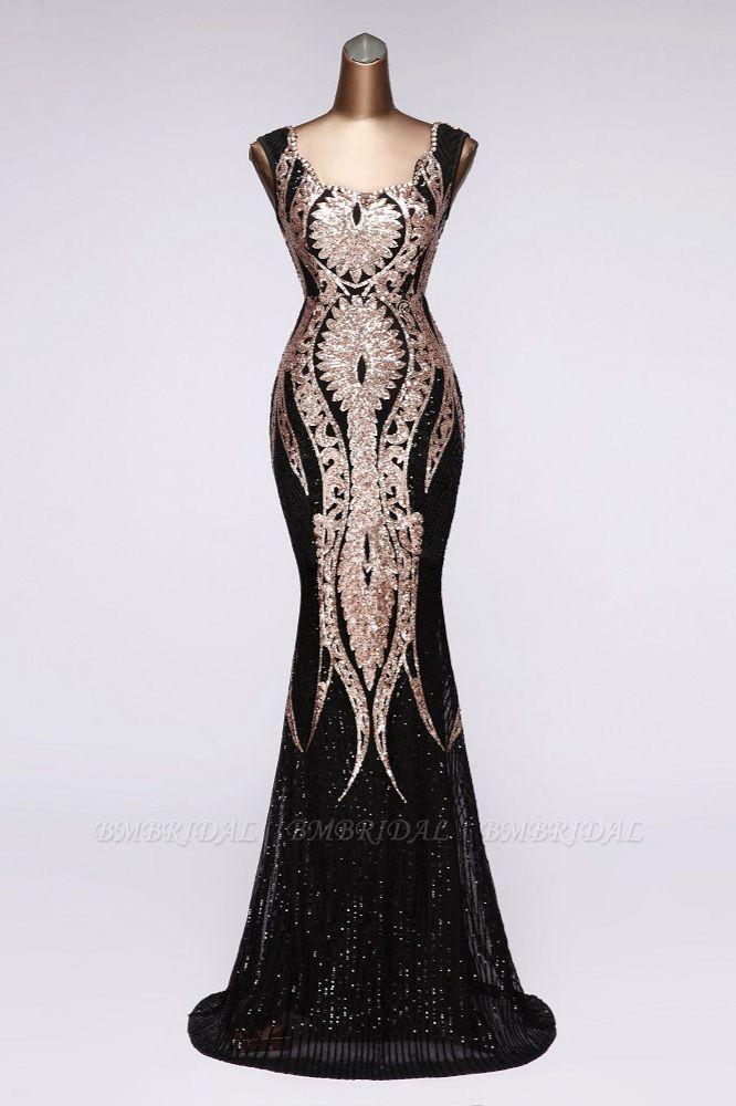 BMbridal Gorgeous Sequined Square-Neck Mermaid Prom Dresses Sleeveless Online
