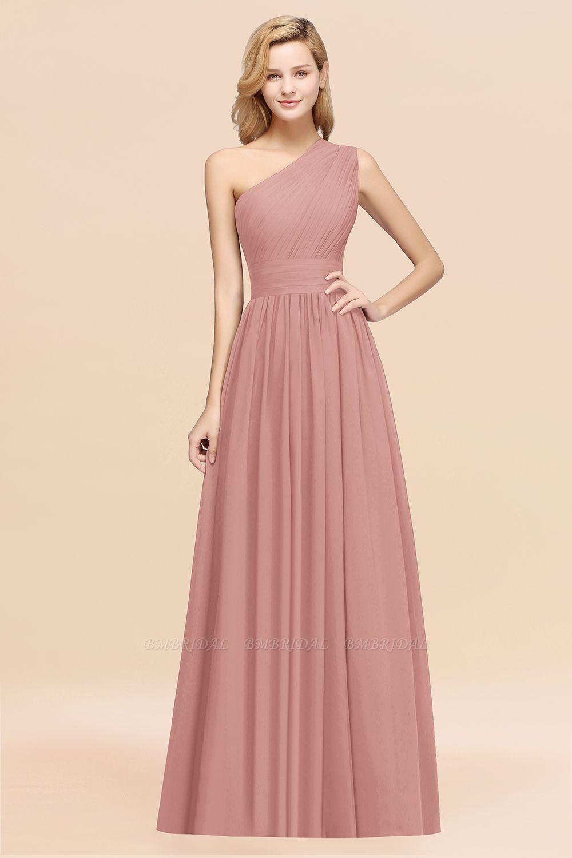 BMbridal Stylish One-shoulder Sleeveless Long Junior Bridesmaid Dresses Affordable