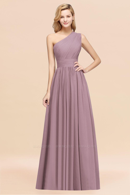 Stylish One-shoulder Sleeveless Long Junior Bridesmaid Dresses Affordable