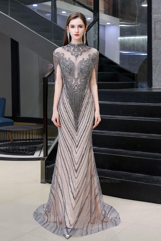 Luxurious Crystal Beadings Mermaid Prom Dress Long On Sale