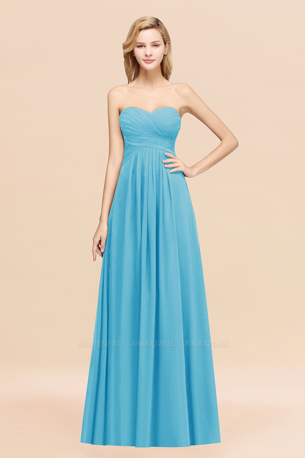 BMbridal Vintage Sweetheart Long Grape Affordable Bridesmaid Dresses Online