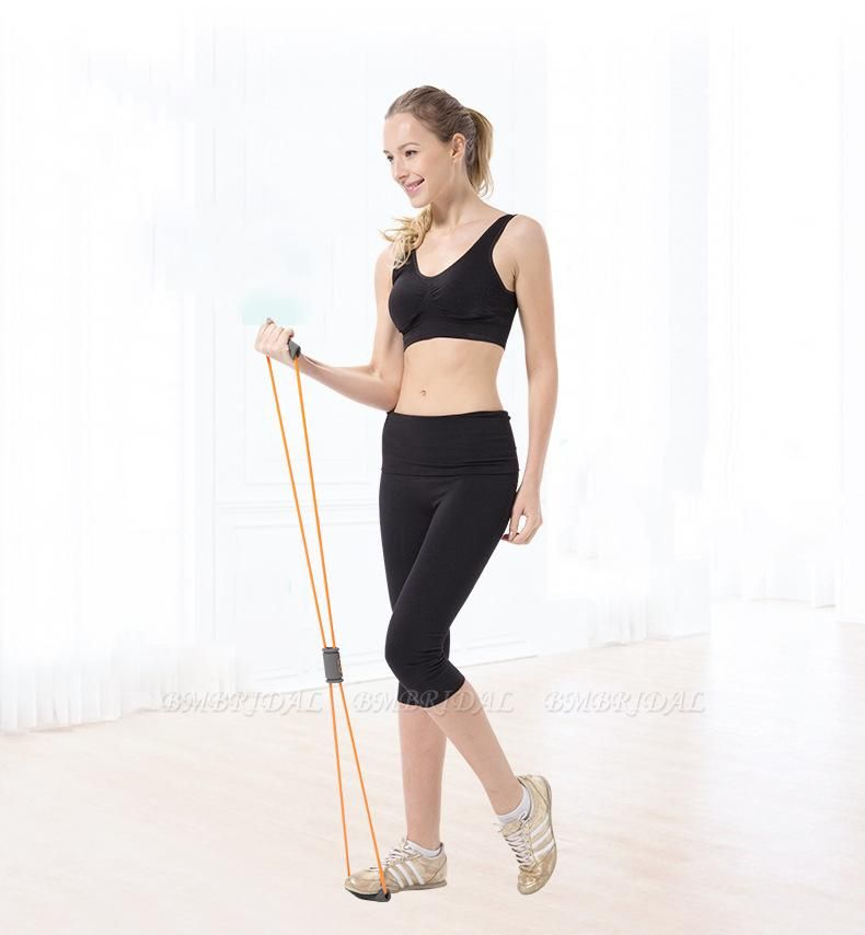 BMbridal 5 Pcs Indoor Fitness Portable Latex Figure 8 Tension Rope Figure Eight Puller Yoga