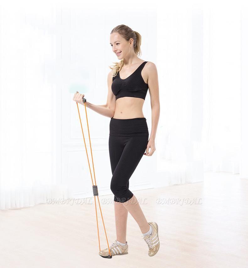 5 Pcs Indoor Fitness Portable Latex Figure 8 Tension Rope Figure Eight Puller Yoga