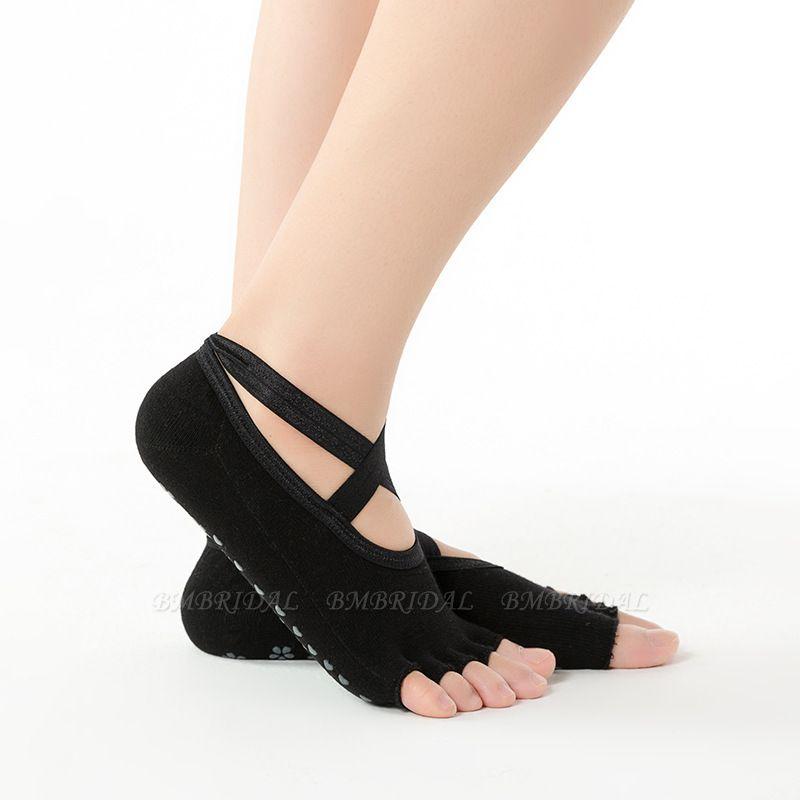 BMbridal 3 Pairs Comfortable Cotton Long One-size Yoga Socks Five-finger Wear-resistant Non-slip Four Season Breathable Split Toe Point