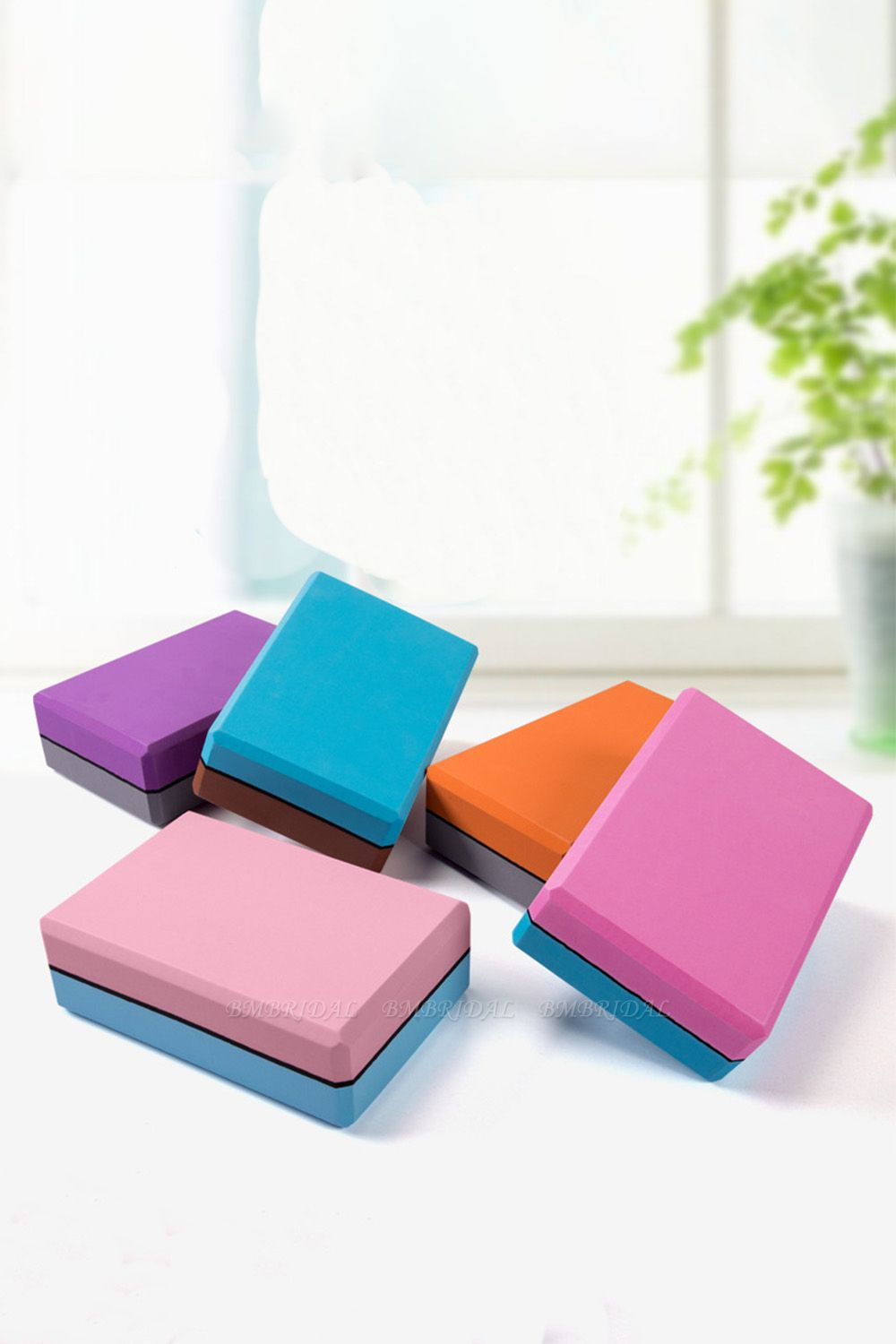 BMbridal High Density EVA Yoga Block Foam Foaming Block Brick Exercises Fitness Tool Workout Stretching Aid Body Shaping Health Training