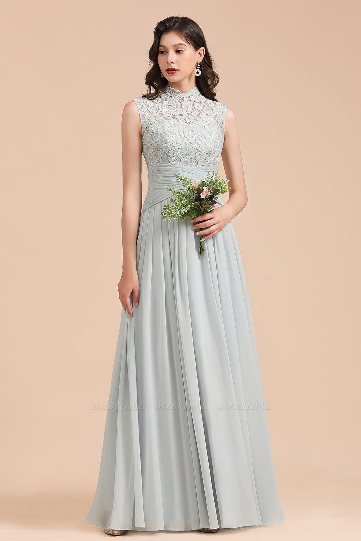 BMbridal Mist High-Neck Lace Bridesmaid Dress Long Online