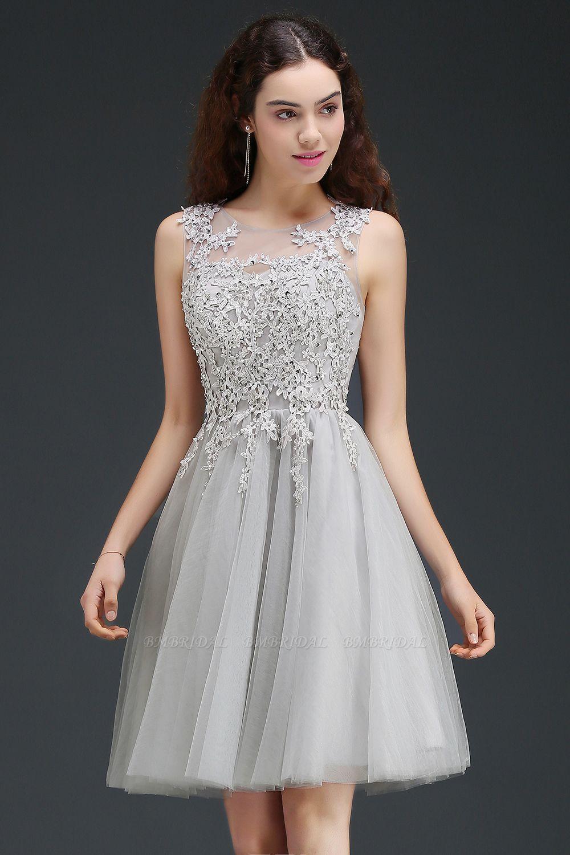 BMbridal Sleeveless Lace Short Homecoming Dress Mini Bridesmaid Dress