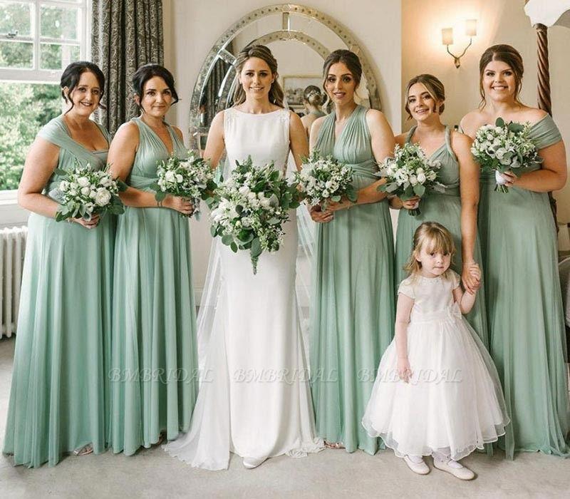 BMbridal Sleeveless Mint Multiway Infinity Bridesmaid Dress
