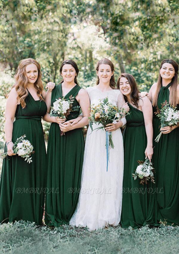 BMbridal Dark Green Multiway Infinity Bridesmaid Dress