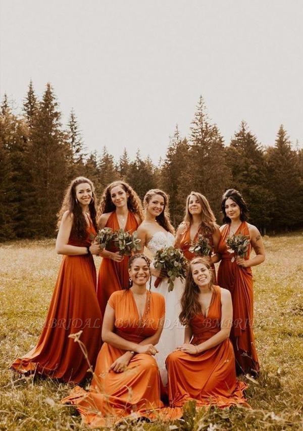 BMbridal Camel Multiway Ruffles Infinity A-Line Bridesmaid Dresses
