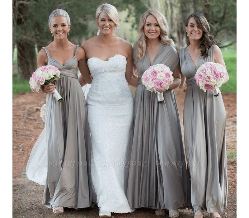 BMbridal Silver Multiway Infinity Bridesmaid Dress