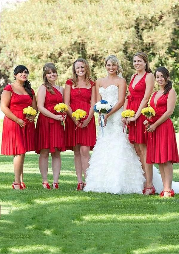 BMbridal Ruby Multiway Ruffles Infinity A-Line Bridesmaid Dresses
