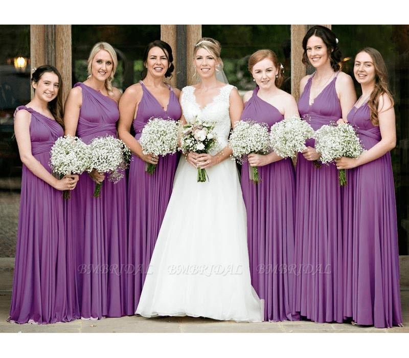 BMbridal Purple Multiple Bridesmaid Dresses Long