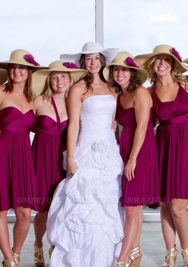 BMbridal Grape Multiway Ruffles Infinity A-Line Bridesmaid Dresses