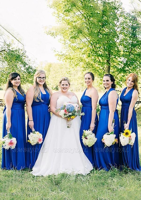 BMbridal Ocean Blue Multiple Infinity Bridesmaid Dresses Long