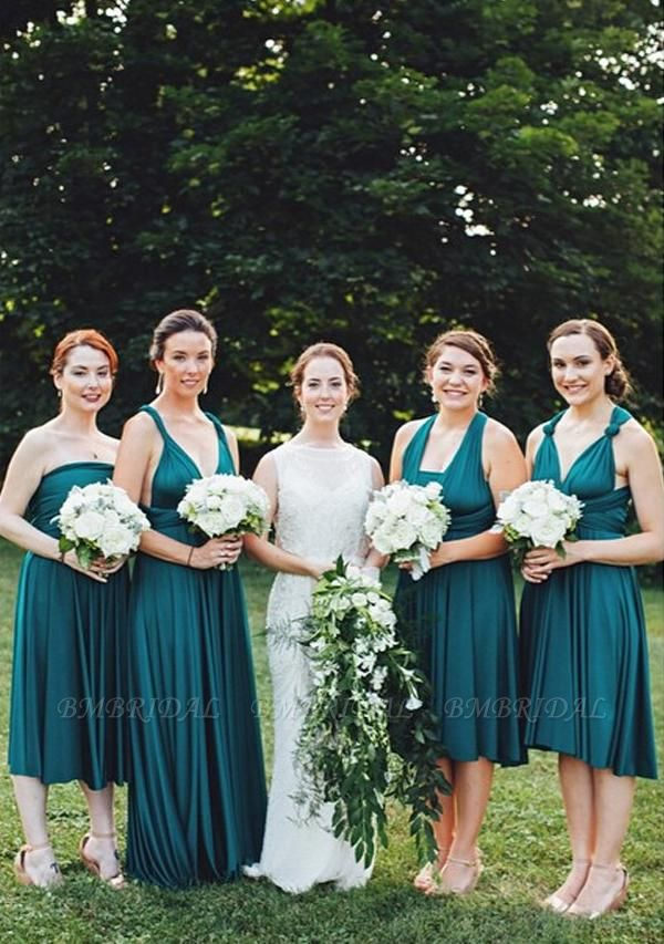 BMbridal Dark Green Multiple A-Line Bridesmaid Dresses