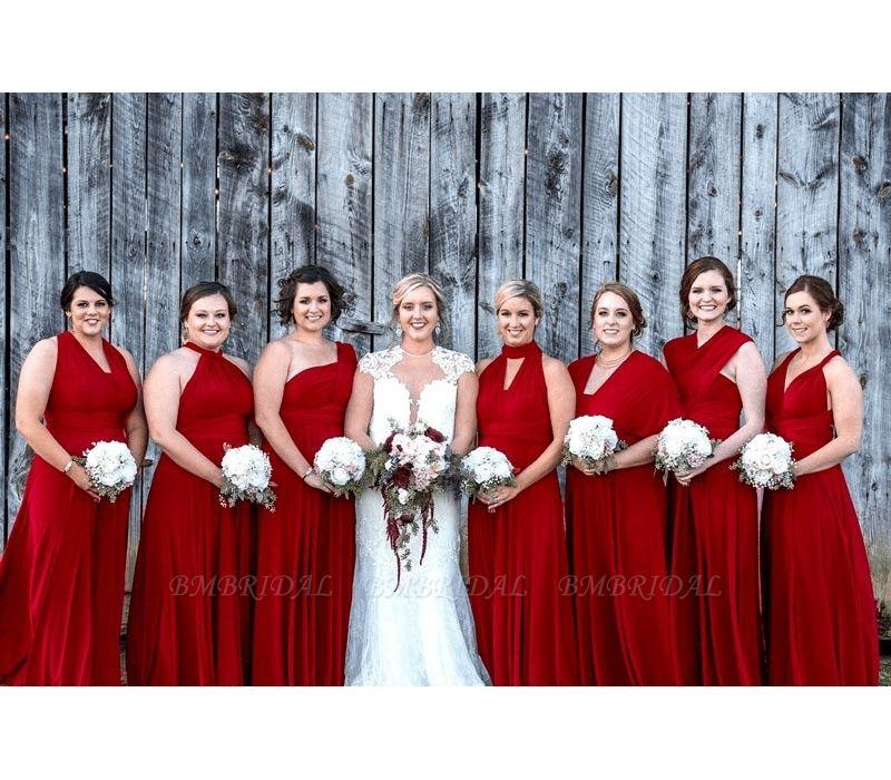 BMbridal Ruby Multiway Ruffles Infinity Bridesmaid Dresses