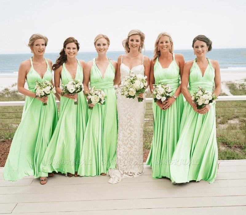BMbridal Sleeveless Emerald Multiway Infinity Bridesmaid Dress