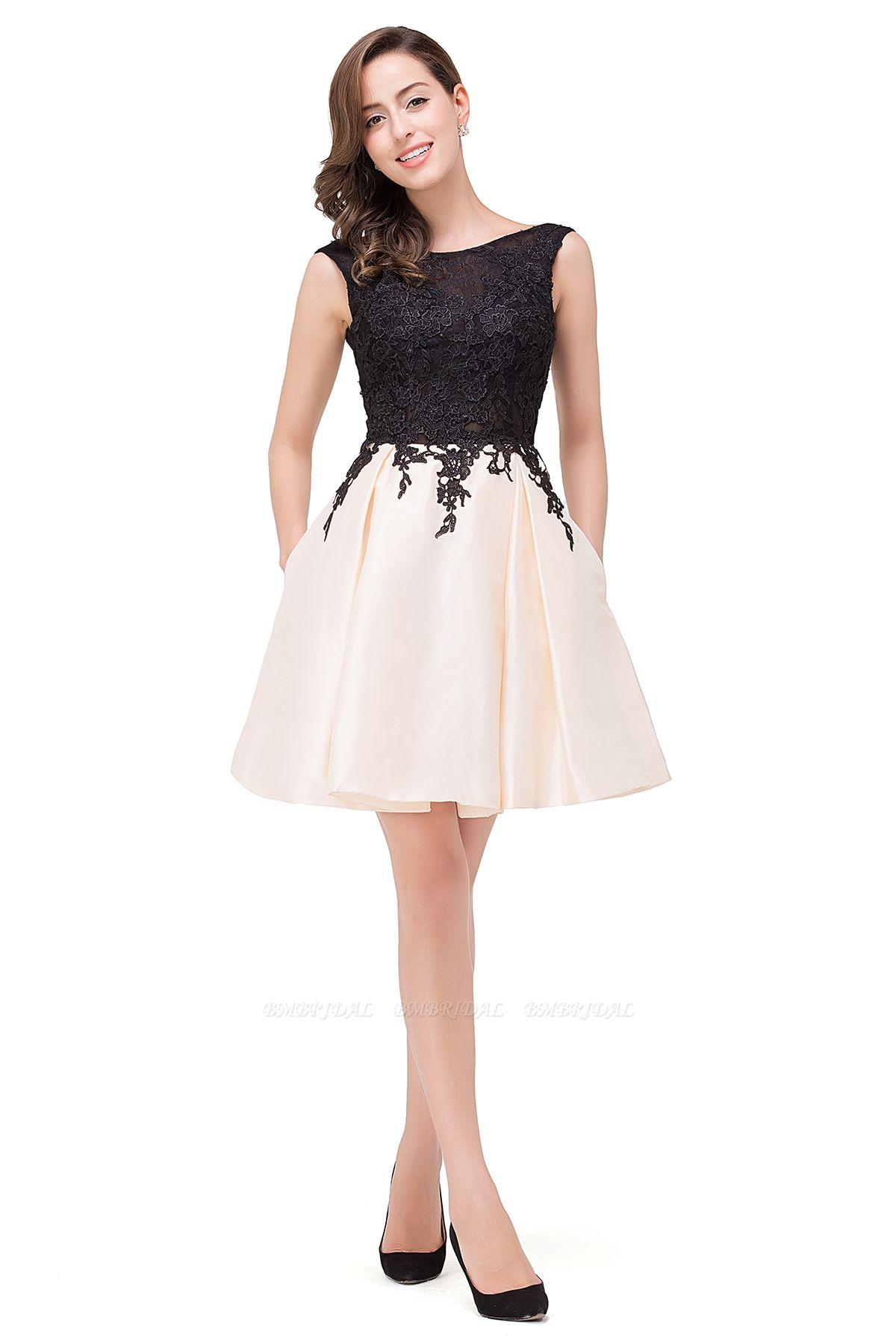 BMbridal Short A Line Applique Tutu Prom Party Dress