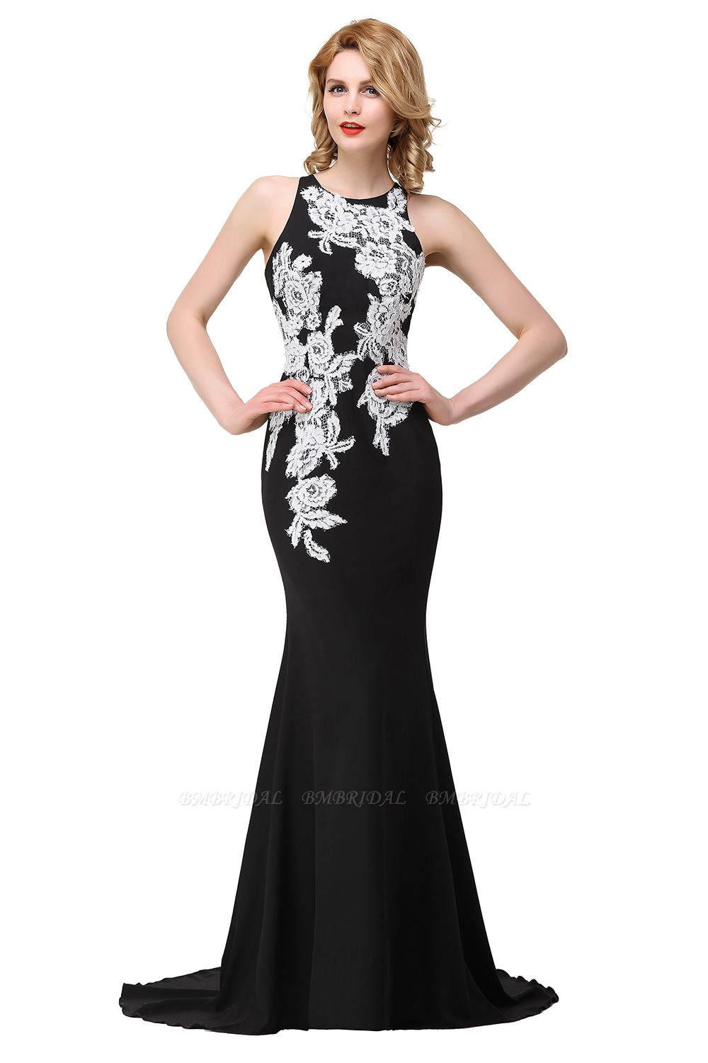 BMbridal Mermaid Evening With Appliques For Women Formal Long Prom Dress