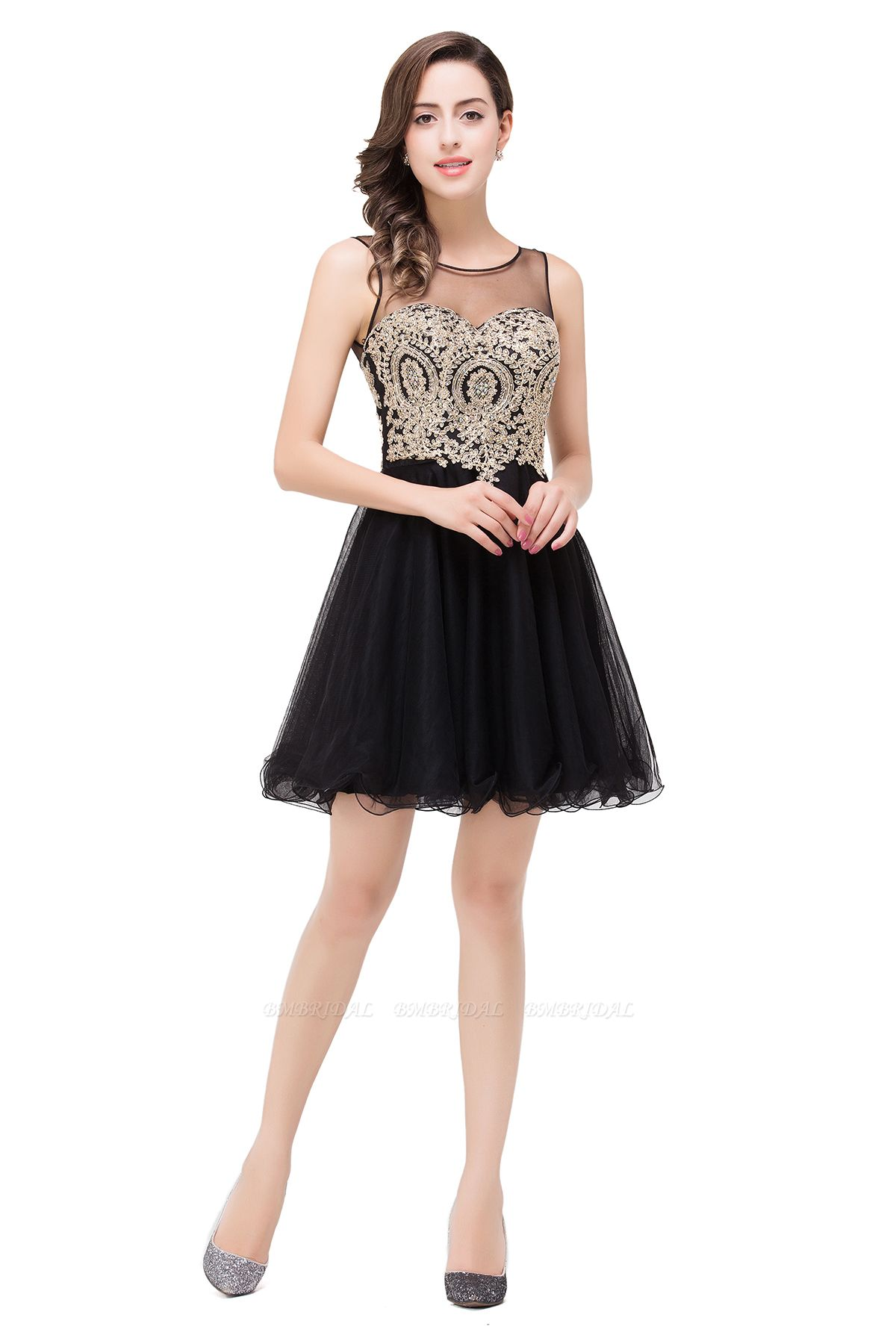 BMbridal Short A-line Sleeveless Little Black Dress Online