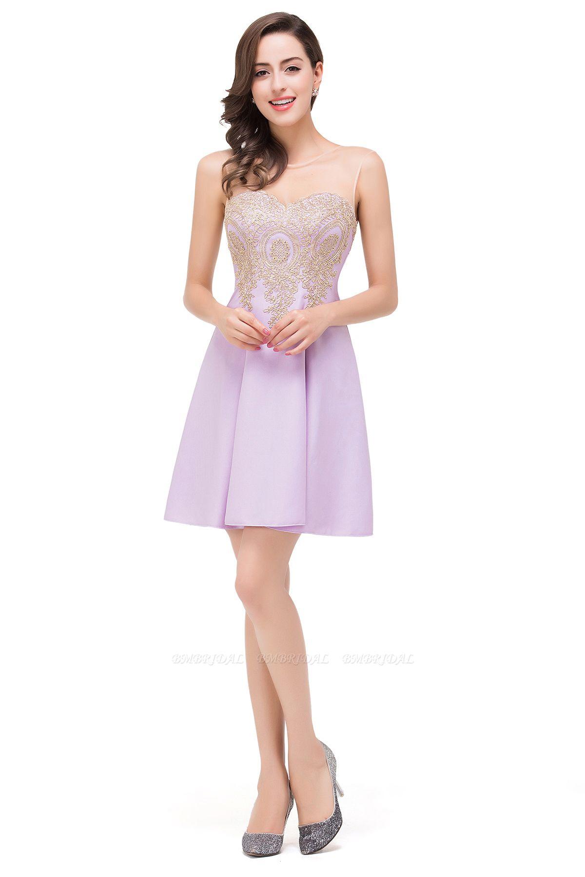 BMbridal Short Applique Sleeveless Prom Homecoming Dress