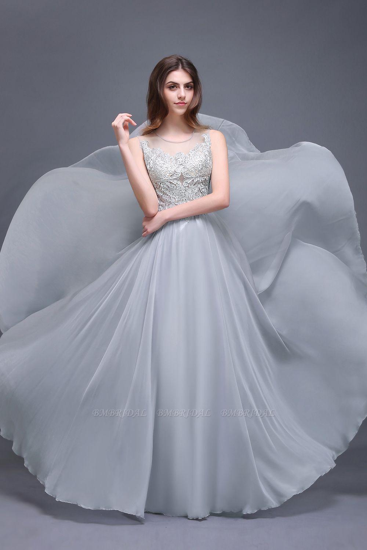 BMbridal Gorgeous Lace Chiffon Long Prom Dress