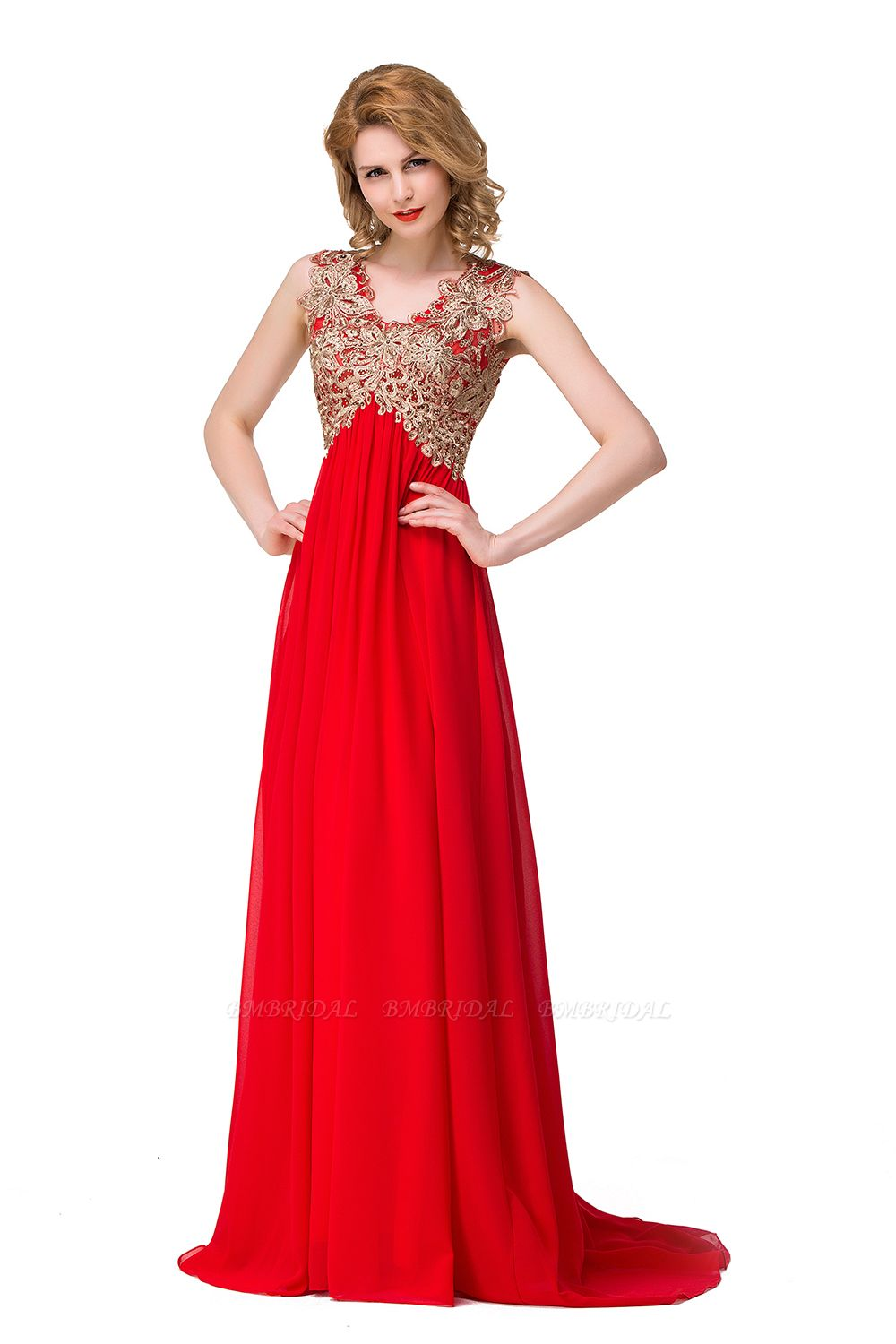 BMbridal Long Prom Lace Dress Evening Dress with Sequins