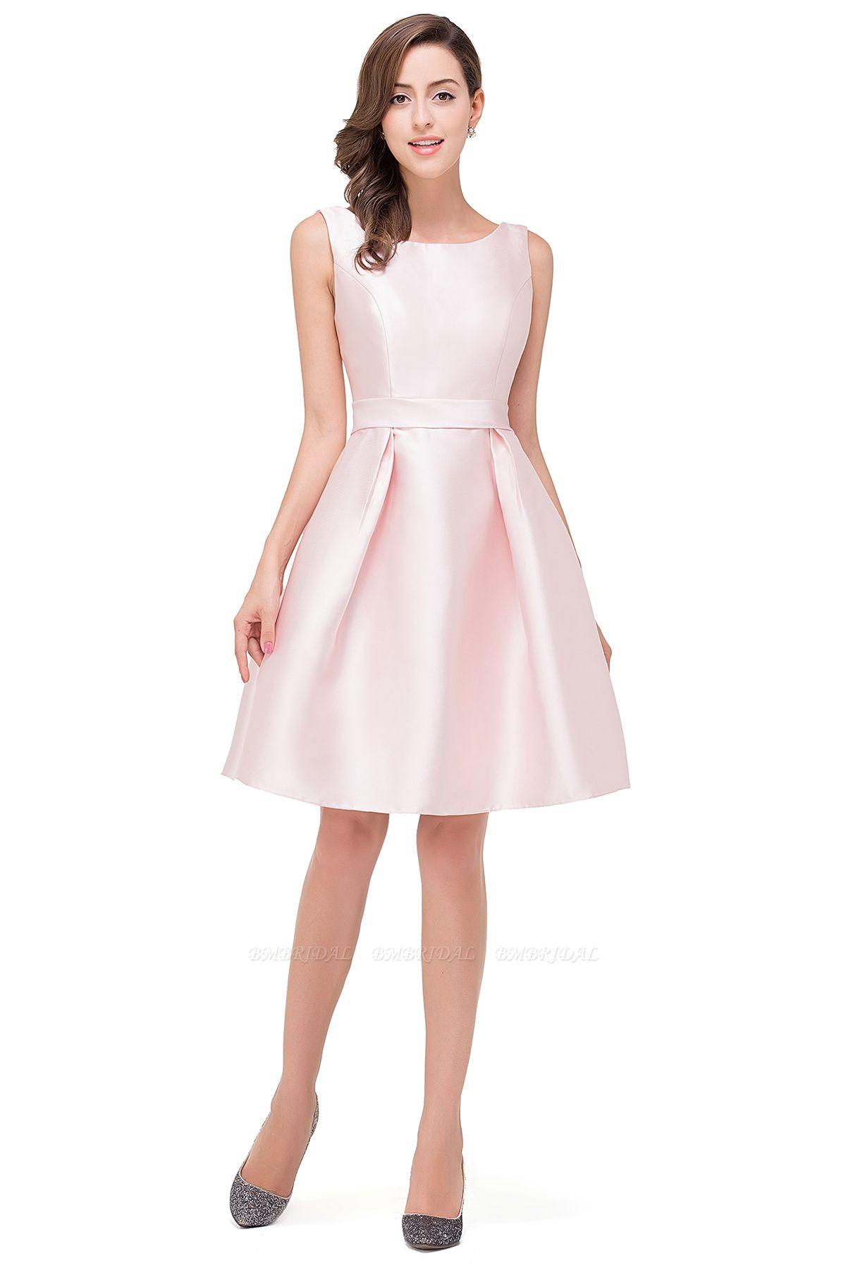 BMbridal Elegant Sleeveless Short A-Line Knee Length Prom Dress