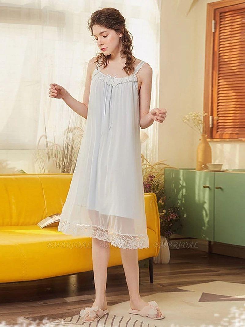 BMbridal Lovely Girls' Round Neck Sleeveless Cotton Pajamas
