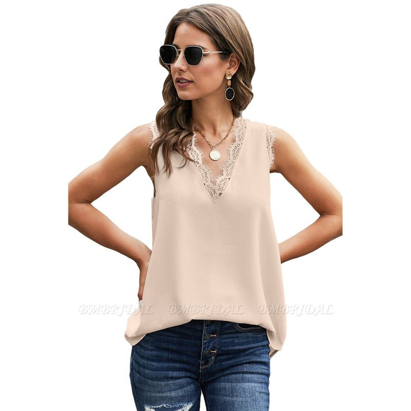 BMbridal Women Vest Summer Wear Casual Lace Sleeveless Top