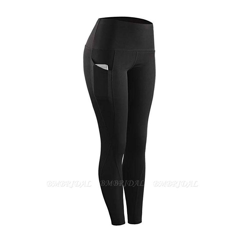 Women Legging With Pocket Workout Yoga Fitness Skinny Tights Gym Sport Stretch Fit Solid Jogging Slim Pants Legging