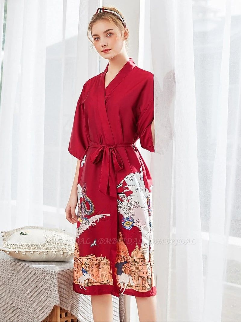 Womens Robe Knit Bathrobe Long Sleepwear Loungewear Lightweight Kimono Robes