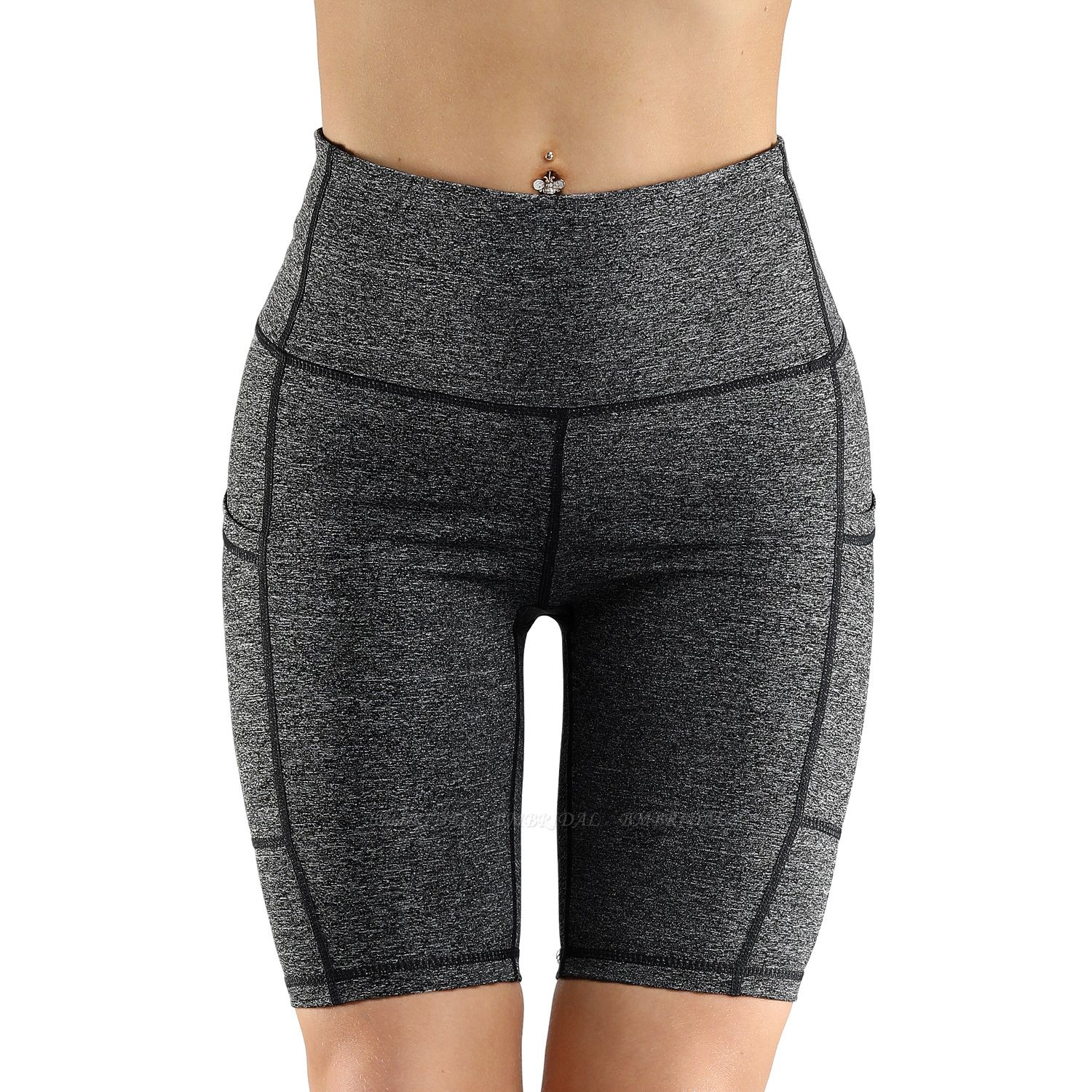 BMbridal Women Sports Yoga Shorts Ladies' printed Camouflage Pockets Hip-tightening Running Fitness Yoga Trouser Sport Fitness Shorts