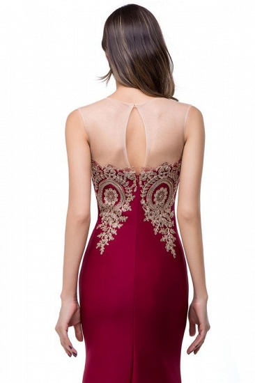 BMbridal Sleeveless Mermaid Long Evening Gowns With Lace Appliques_4
