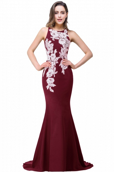 BMbridal Mermaid Evening With Appliques For Women Formal Long Prom Dress_1