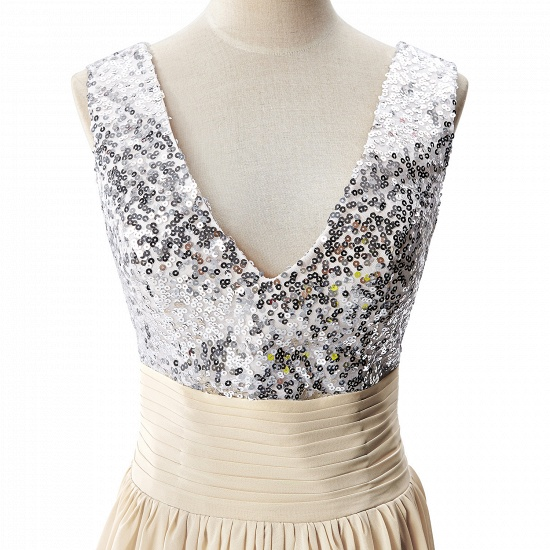 BMbridal A-line V-neck Chiffon Party Dress With Sequined_8