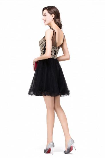 BMbridal Short A-line Sleeveless Little Black Dress Online_13
