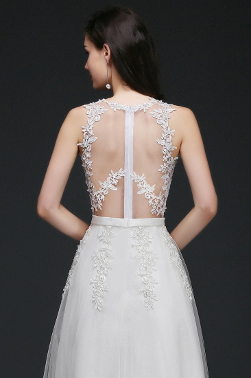 BMbridal A-Line Sleevelss Long Prom Dress With Lace Appliques_10