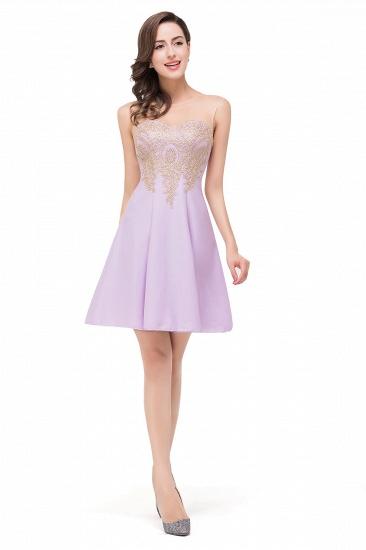 BMbridal Short Applique Sleeveless Prom Homecoming Dress_10