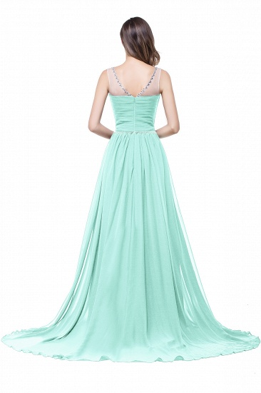 BMbridal A-line Court Train Chiffon Party Dress With Beading_9
