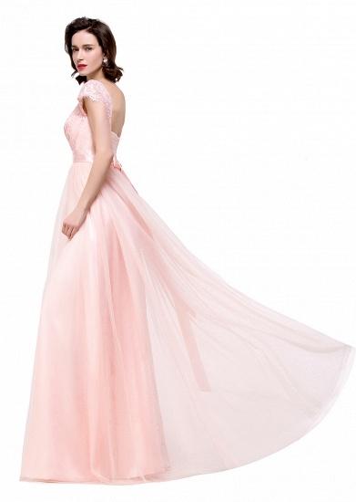 BMbridal Short Sleeve Long Lace Bridesmaid Dresses_13