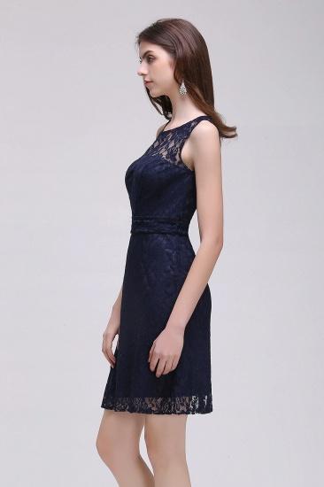 BMbridal Gorgeous Navy Blue Lace Short Prom Dress_4