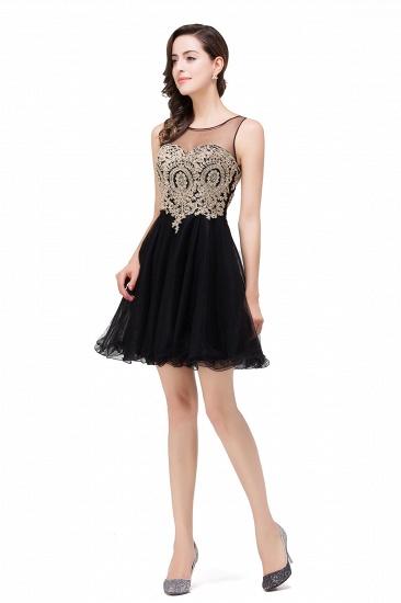 BMbridal Short A-line Sleeveless Little Black Dress Online_9