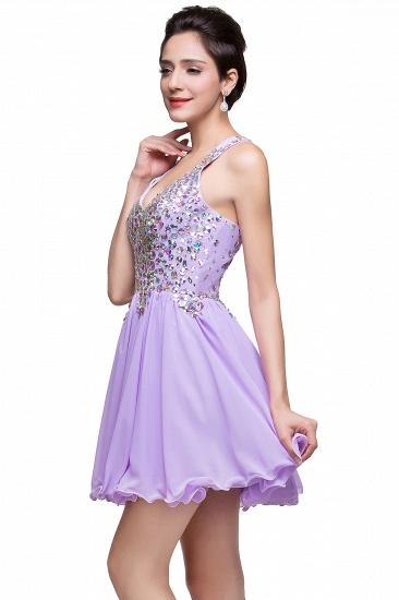 BMbridal Chic Crisscross-straps Crystal Beads Ruffle Chiffon Sweetheart Short Prom Dress_13