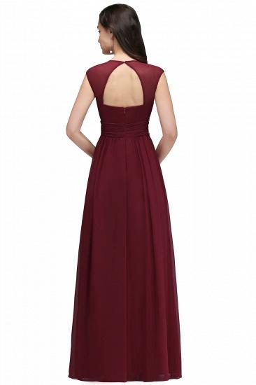 BMbridal Vintage Burgundy Cap Sleeve Chiffon Long Evening Dress_11