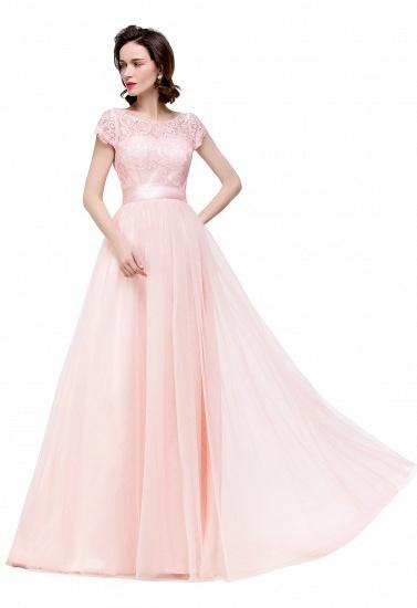 BMbridal Short Sleeve Long Lace Bridesmaid Dresses_14